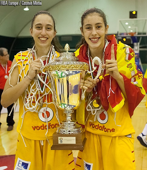 Still number one: Spain successfully defended their title at the U16 European Championship Women
